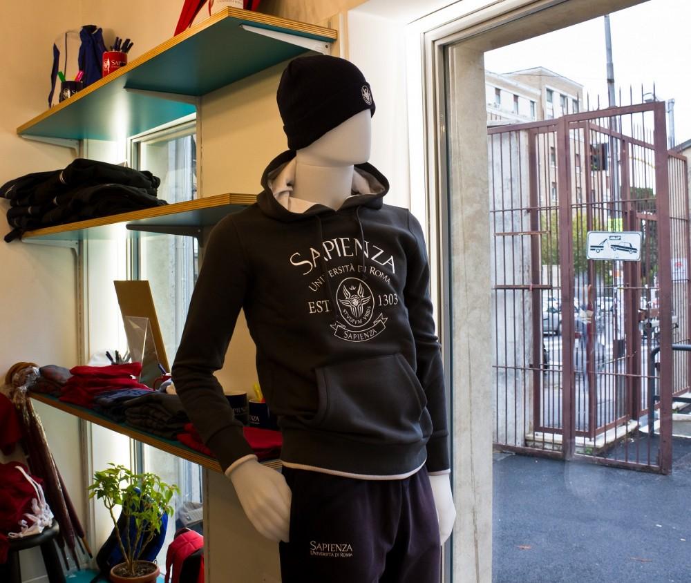 Felpa con cappuccio - grigio - Sapienza Merchandising
