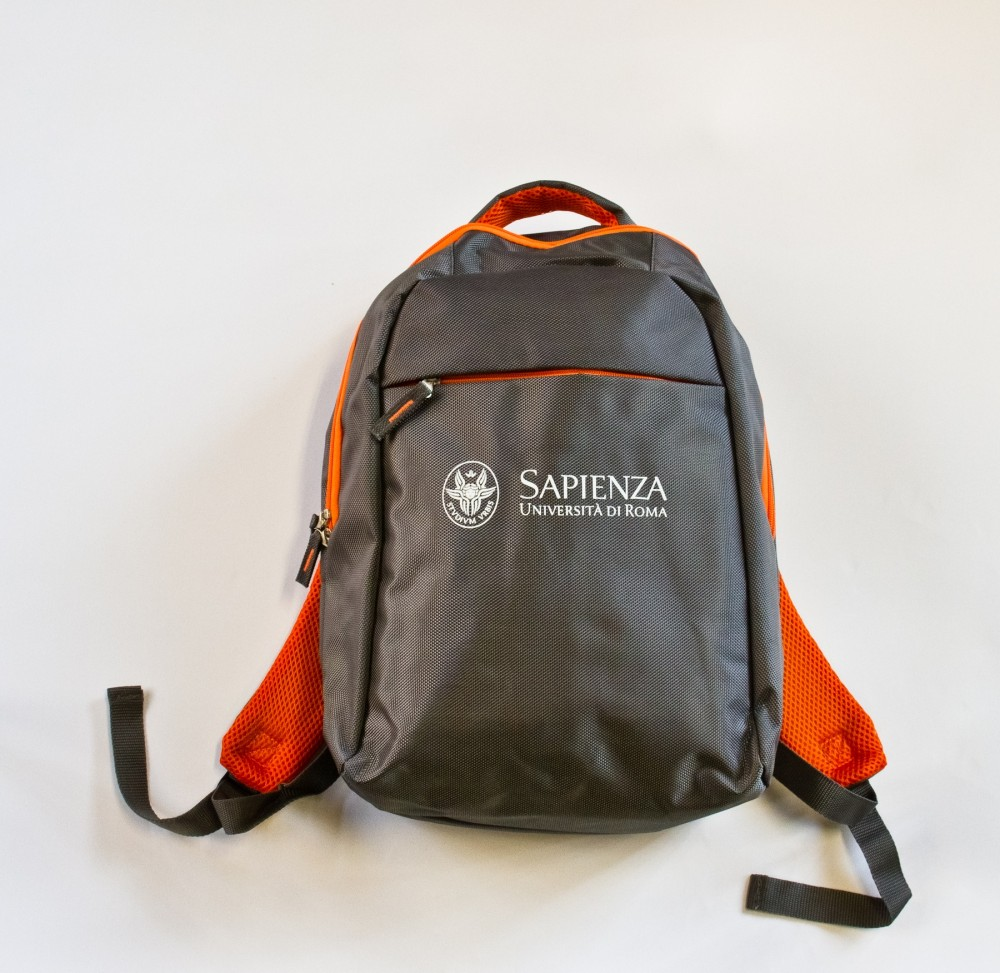 Computer backpack with padded compartment and zip