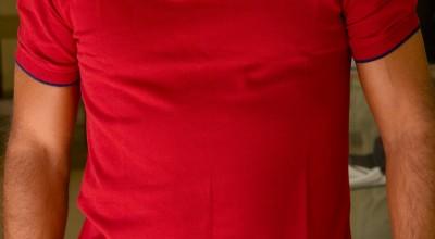 Polo uomo manica corta - rosso