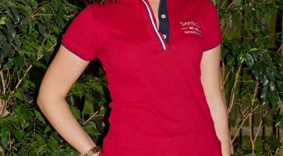 Polo donna manica corta - rosso