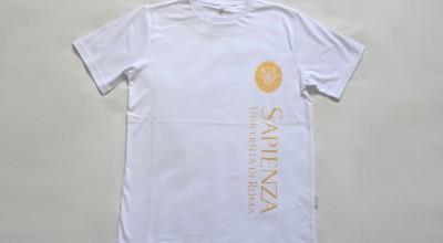 T-shirt basic bianca e oro